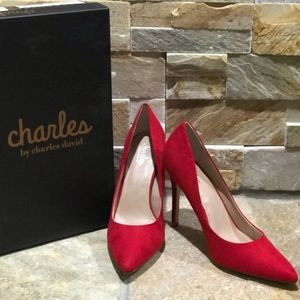 NEW, Charles by Charles David, scarlet red pumps